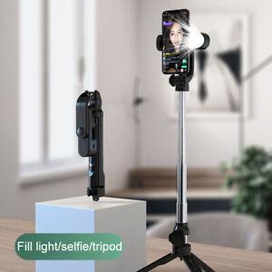 Bluetooth Remote Selfie Stick Tripod Phone Holder Fill Light Tiktok Live Stream
