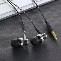 3.5mm Stereo In-Ear Headphone Earbud Earphone Headset Mic For iPhone Samsung HTC