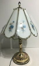 """Vintage Lighting Touch Lamp 23"""" 3-Way Glass Panel Shade"""