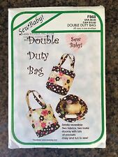 SewBaby Double Duty Diaper bag and changing pad PATTERN - Brand new - F868