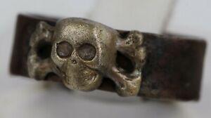Warschau GERMAN Ring STERLING Silver SKULL Bones WARSAW Amulet TRENCH Art