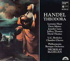 HANDEL: THEODORA. Lorraine Hunt, Drew Minter, Nicholas McGegan, 3 CDs, sehr gut