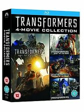 TRANSFORMERS 4-Movie Collection [Blu-ray Set] Complete 1-4 Films 5-Disc Set