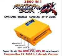 Pandora's Box cx 2800 in 1 arcade games version jamma pcb game board HDMI VGA