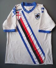 4.8/5 SIZE L SAMPDORIA 2010~2011 ORIGINAL FOOTBALL SHIRT JERSEY AWAY KAPPA