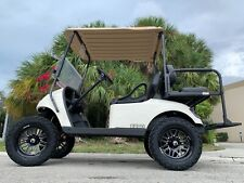 REFURB white 2017 ezgo 48v txt 4 seat Passenger golf cart alloy rims lifted FAST