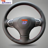 BANNIS Black Leather Steering Wheel Cover for Suzuki Grand Vitara 2007-2013