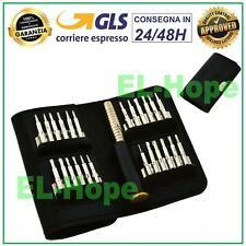 SET 25 PCS CACCIAVITE GIRAVITE TOOL TORX KIT APERTURA IPHONE SMARTPHONE MACBOOK