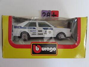 BBURAGO DIE CAST METAL MODEL W/ PLASTIC PARTS FERRARI GTO RALLY SCALE 1:43