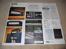 Sansui Tuner Brochure, TU-719, Specs, Info, Pics, NICE!