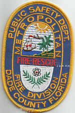 "Metro Fire - Rescue / Dade County, Florida (3.25"" x 5"" size)  fire patch"