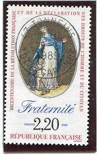 TIMBRE FRANCE OBLITERE N° 2575 REVOLUTION / FRATERNITE / Photo non contractuelle