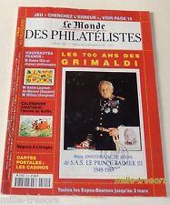Revue LE MONDE DES PHILATELISTES L'OFFICIEL - Février 1997 - 700 ans GRIMALDI