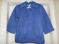George simonton ladies jacket - hyacinth blue , size small , new