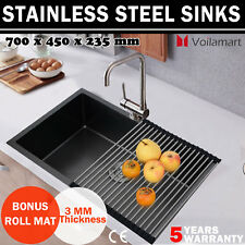 Stainless Steel Kitchen Sink Commercial Laundry Undermount Topmount Single Bowl
