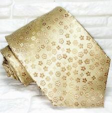 Cravatta bronzo fiori Nuova  100% seta Top quality realizzata a mano marca TRE