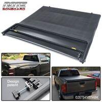 For 14-18 Chevy Silverado GMC Sierra 6.5 FT Tri-Fold Tonneau Bed Cover Black