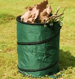 POP UP GARDEN BIN SACK BAG LEAVES GRASS CLIPPINGS FOLDING REFUSE 90 LITRE S31