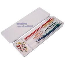 Kit 140 Ponticelli Jumper Wires Piastra Sperimentale Breadboard Arduino Cavetti