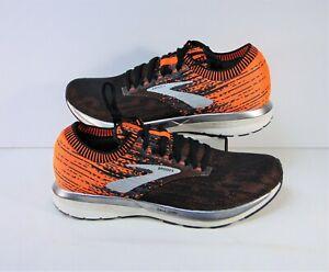 Brooks Ricochet Knit DNA Amp Black & Orange Running Shoes Sz 10 NEW 1102931D038