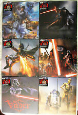 STAR WARS Dart Board Sets, 6-Complete in the Series & Retail Holder Collectable!
