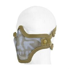Metal Mesh Half Face Tan Skull Mask Airsoft Paintball Protective Tactical Gear