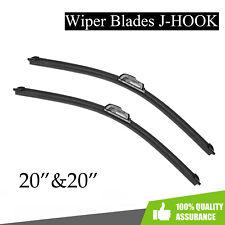"20"" & 20"" Windshield Wiper Blades All season Bracketless J-Hook Oem Quality (Fits: Ford Probe)"
