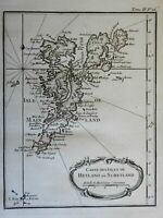 Shetland Islands Scotland United Kingdom 1760 Bellin map