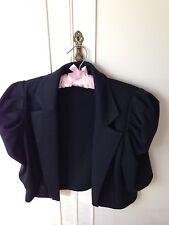 Brand new Festive evening black blazer jacket TOSKA designer, size L (M)