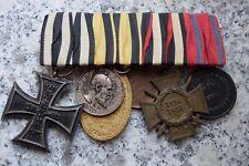 Ordensspange mit 6 Orden 1.Weltkrieg mit Silbermedaille,Eisernes Kreuz usw.Bild!