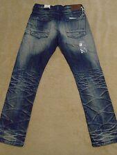 PRPS BARRACUDA Super Bleached Creased Straight Legs Men Jeans 42 x 34 Orig $300+