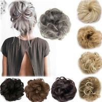 Extensions Natural Curly Messy Bun Hair Piece Scrunchie Cover Hair Human Hair