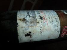 Bouteille de vin vide bordeaux Château Bodet la Justice 1985