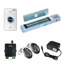 Visionis Door Entry Mag Lock System Kit Wireless Receiver Remote Exit Button