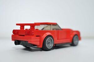 LEGO Nissan Skyline R34 custom built model Red Speed Champions Nismo GTR