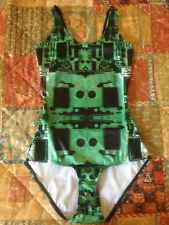 Black Milk Clothing Circuit Board Green Swimsuit Size XS Blackmilk