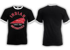 Markenlose Herren-T-Shirts mit Rundhals und Indianer