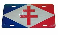 FREE FRENCH FRANCE NAVAL FLAG LICENSE PLATE 6 X 12 NEW ALUMINUM