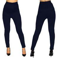 Navy Blue Highwaisted Skinny Pants Bottoms Maternity Elastic Band S M L XL