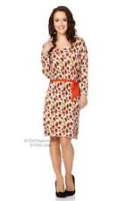 Miss Jolie Orange Floral Print Jersey Dress