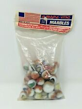 Gladding Vitro Agate Vintage NOS 45+1 Count Shooter Bag of Marbles