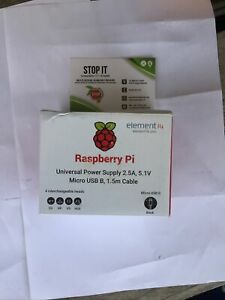 Officiel Raspberry Pi Power Supply 2.5A International Power Supply (noir)