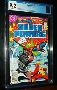 SUPER POWERS #4 1985 DC Comics CGC 9.2 NM- White Pages