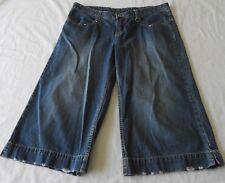 Ladies size 14 BILLABONG   LONG  Blue   denim Shorts Bum print
