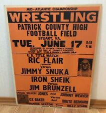 Mid Atlantic NWA Wrestling Event Poster Ric Flair Jimmy Snuka Title Match