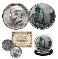 BOBA FETT - STAR WARS Officially Licensed 1977 JFK Half Dollar U.S. Coin