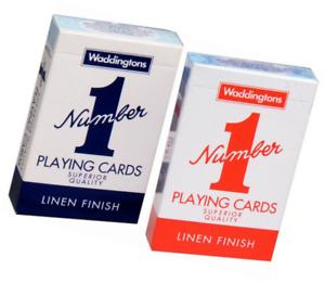 Poker Classico Carte da Gioco Mazzi Di Rosso & Blu Waddingtons No.1 - Nuovo