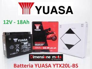 """Batteria YUASA YTX20L-BS 12V-18Ah """"MF"""" per HONDA GL 1800 Gold Wing dal 2001 >13"""