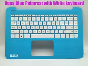 New US Blue Palmrest keyboard for HP Stream 14-ax/14-cb no touchpad