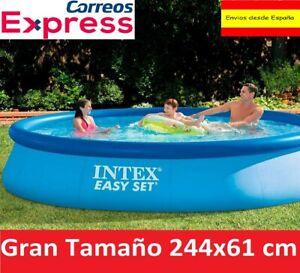 Piscina Hinchable INTEX 244 x 61cm Familiar Desmontable Easy Set Pool 1942Litros